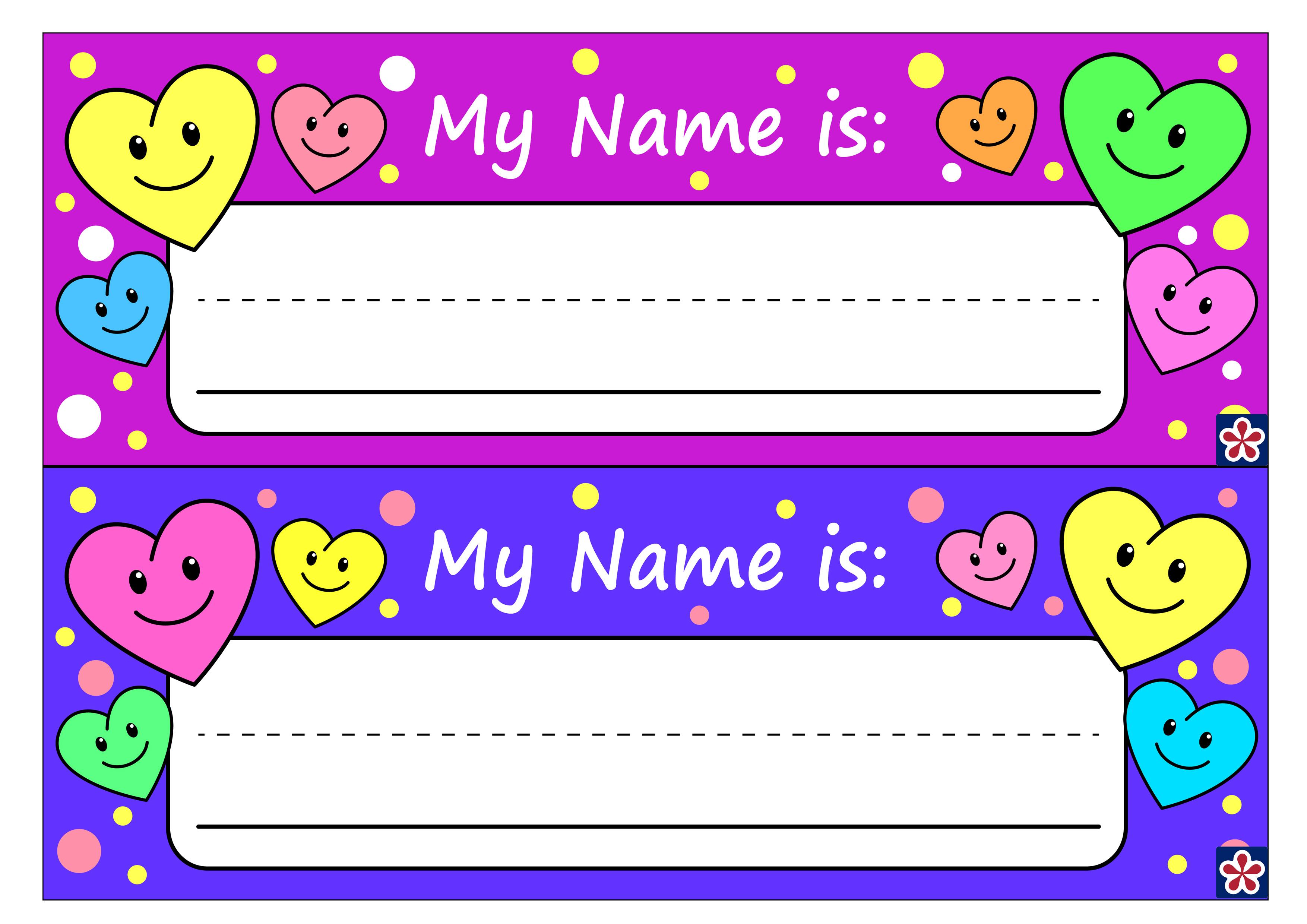 Free Printable Name Tags For