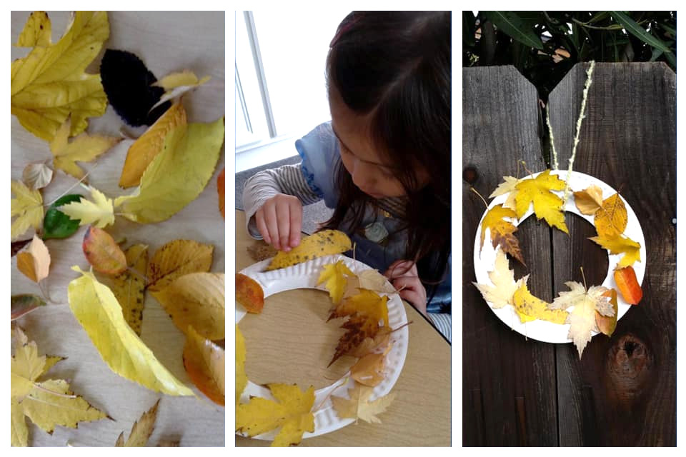 Paper Plate Fall Leaf Wreaths Activities
