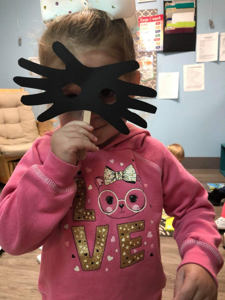 Raccoon Handprint Mask Craft for Toddlers