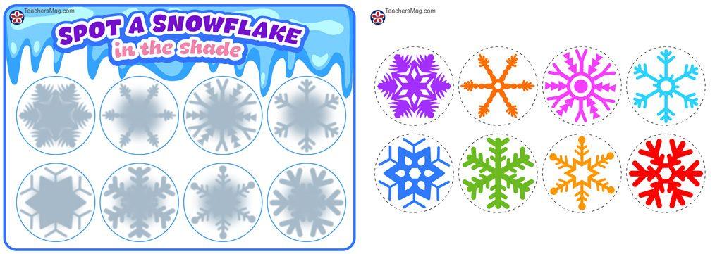 Spot a Snowflake Game