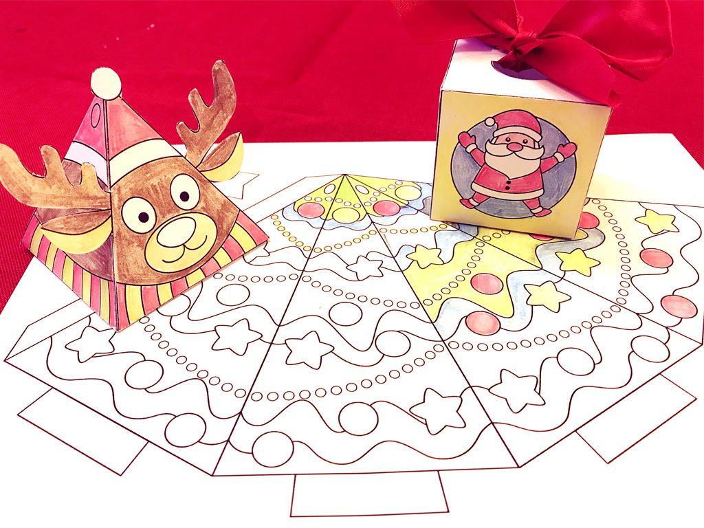 Free Printable 3-D Christmas Crafts