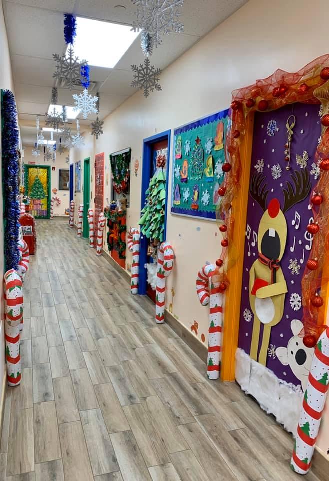 Preschool Holiday Door Decorations
