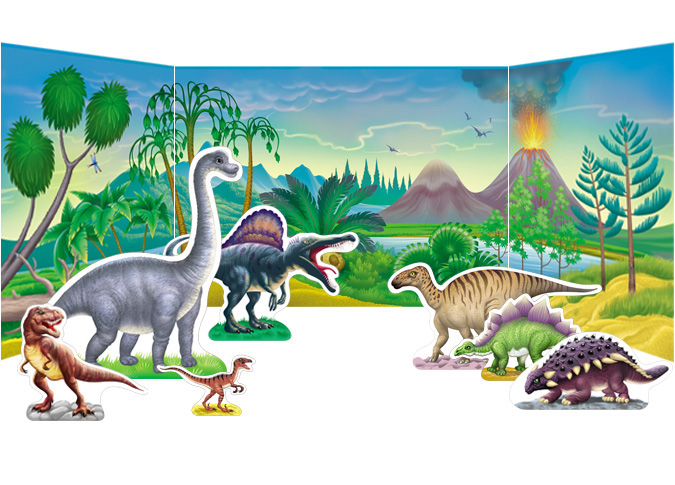 Dinosaurs Diorama Craft Project