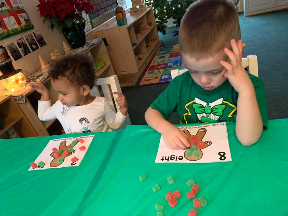 Jelly Drop Counting Activity on Gingerbread Men