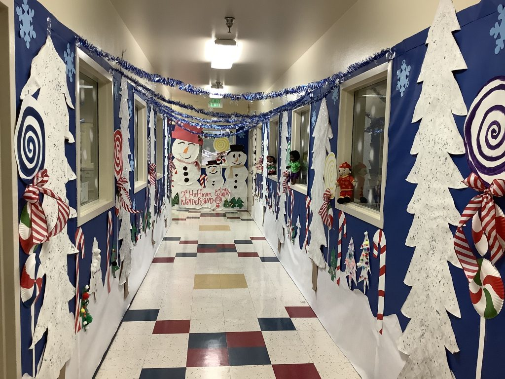Winter wonderland classroom decoration