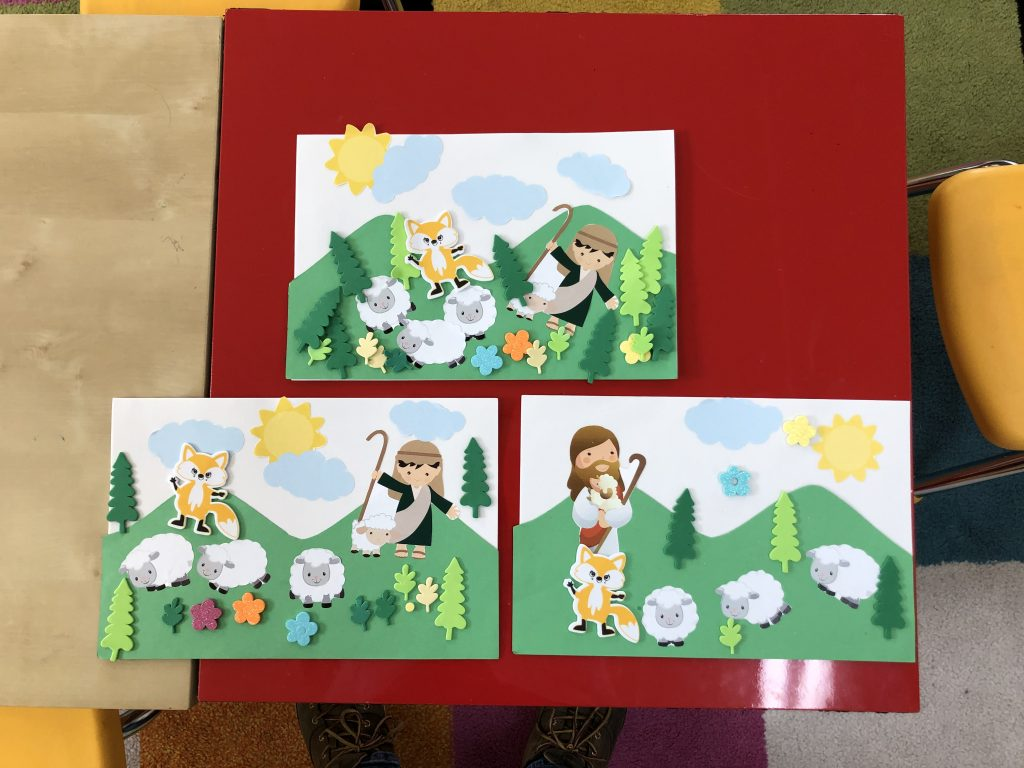 Shepherd and Sheep Printable Bible Crafts For Kids