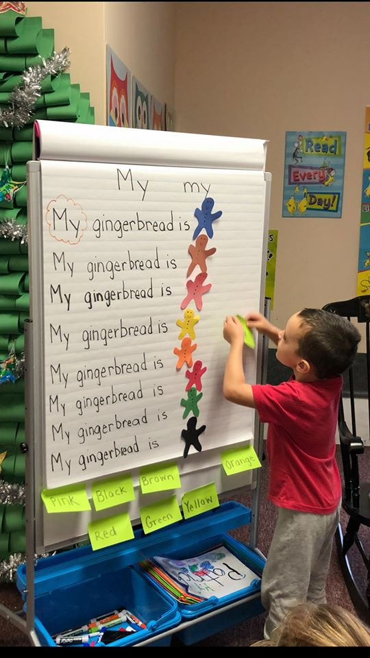 Gingerbread Color Identification Activity