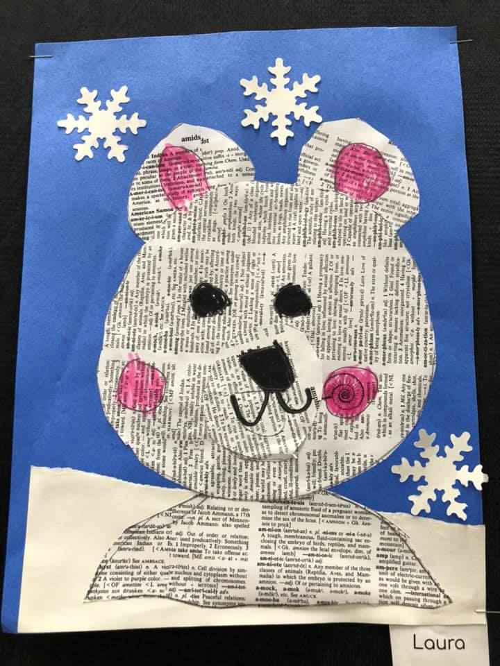 Polar Bears Collage Craft for Kids
