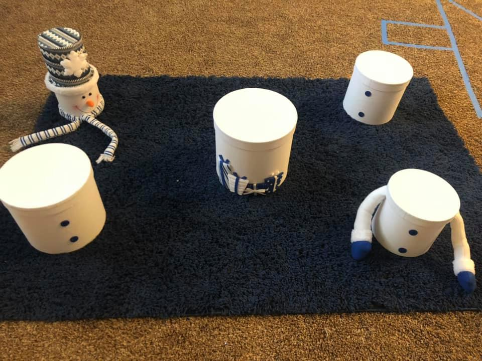 Snowman Stacking Activity