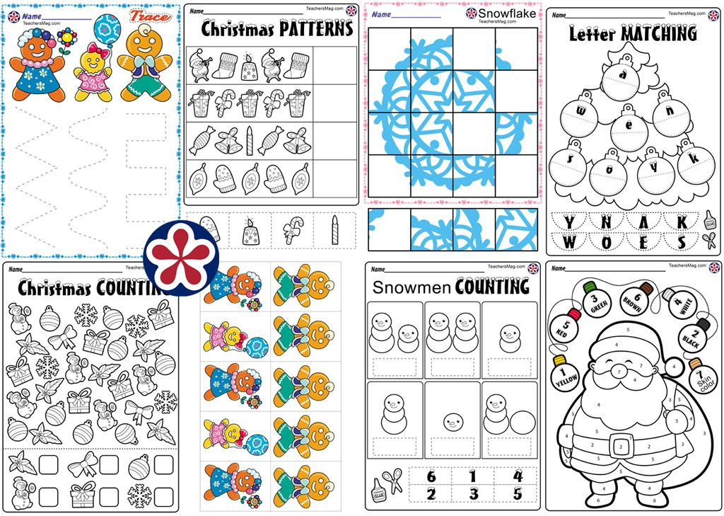 Christmas Worksheets For Preschool Teachersmag Com