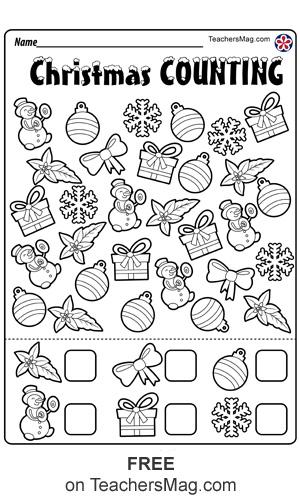 Christmas Worksheets For Preschool Teachersmag Com