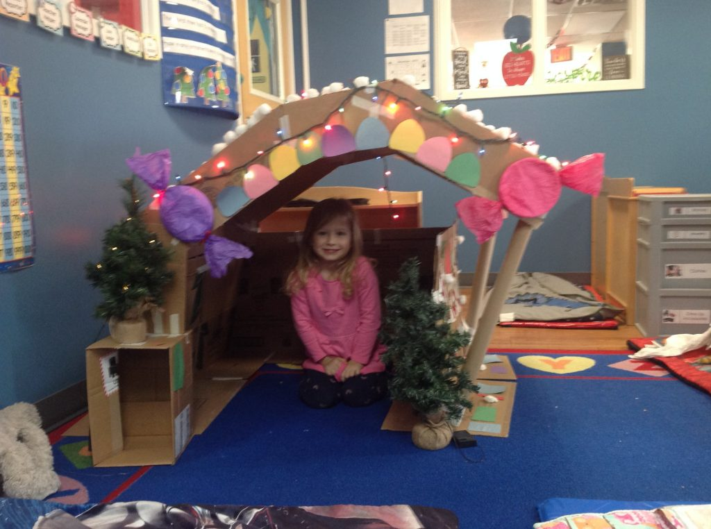 Make a Cardboard Gingerbread House with Your Class!