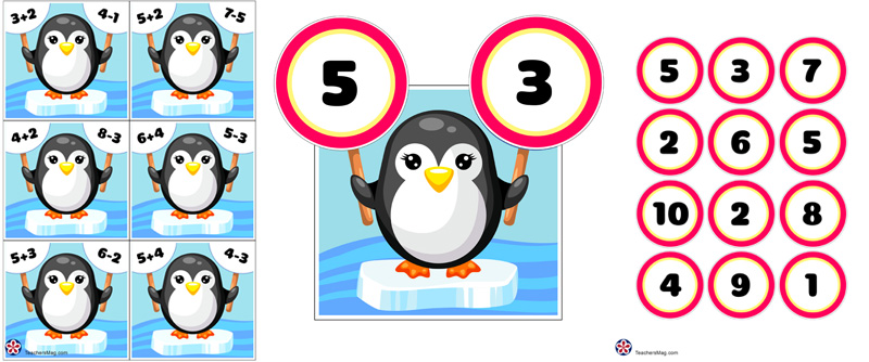 Penguin Math Activities for Preschool and Kindergarten