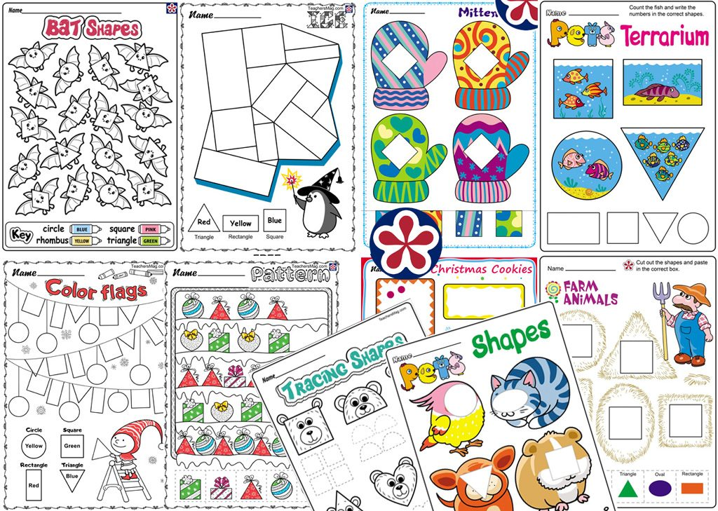 Free Shape Worksheets for Kindergartners