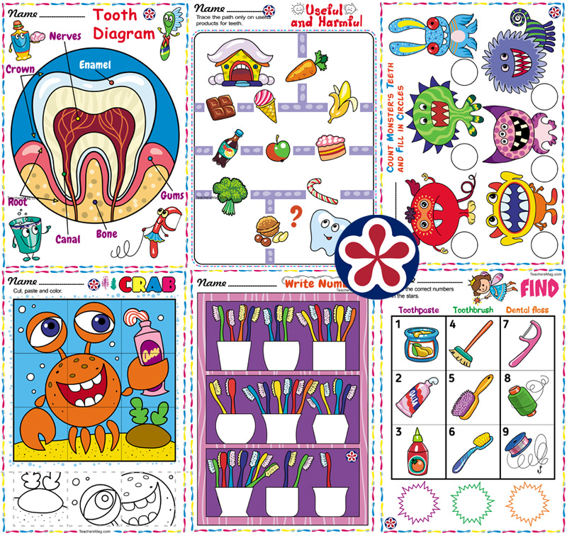 Dental Health Printable Activities