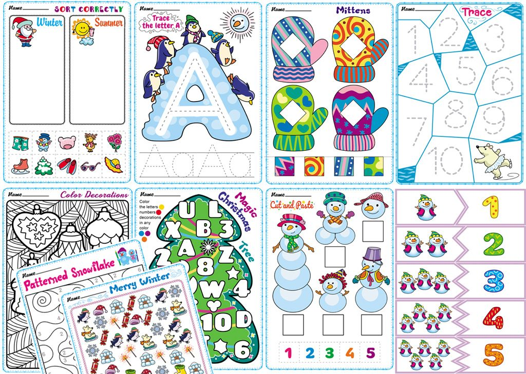 Free Winter Worksheets For Preschoolers. TeachersMag.com