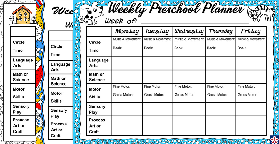 Weekly Planner For Your Preschool Class