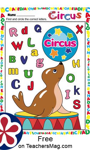 Free Printable Circus Worksheets