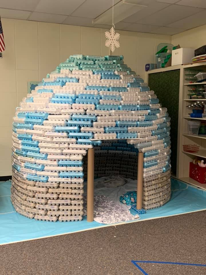 Egg Carton Igloo