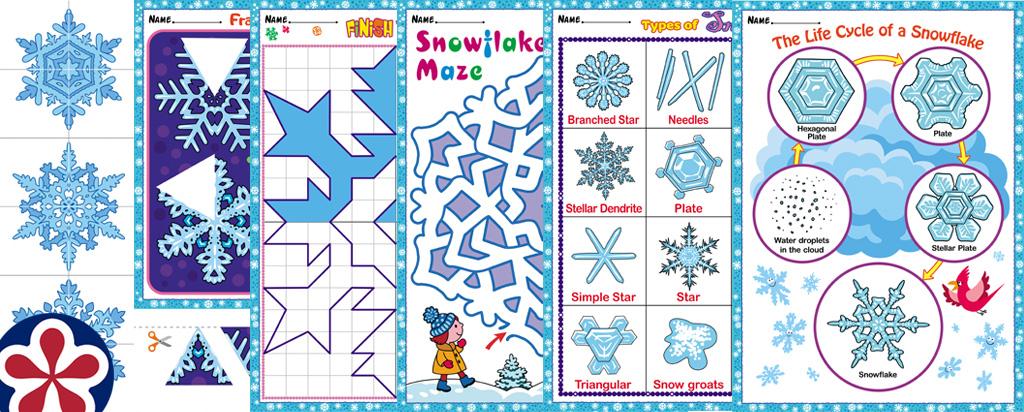 Snowflakes Theme Printables