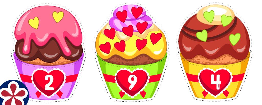Valentine's Day Cupcake Printable