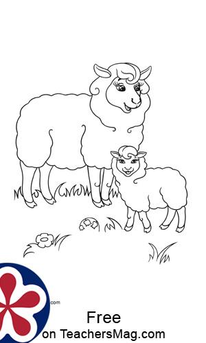 Sheep Finger Painting for Kids