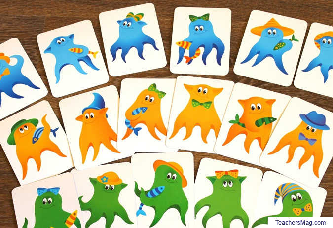Free Printable Funny Octopuses Board Game for Kids