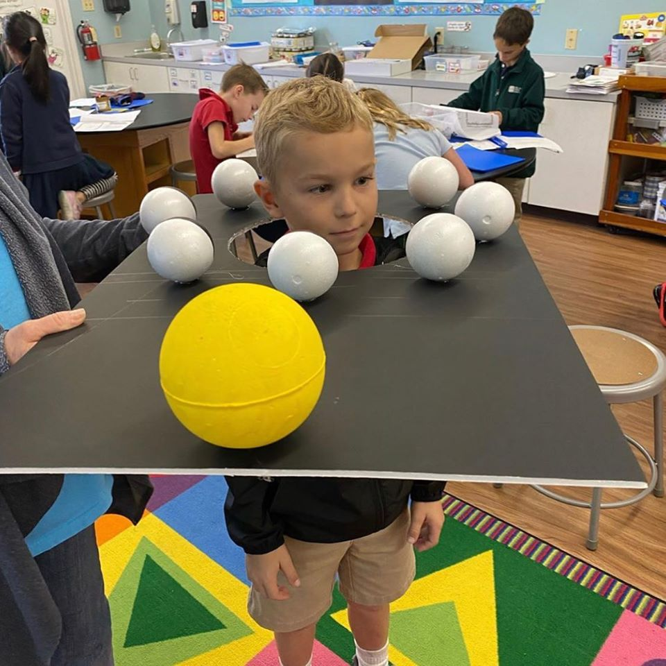 Moon Phases Model for Third Grade Students