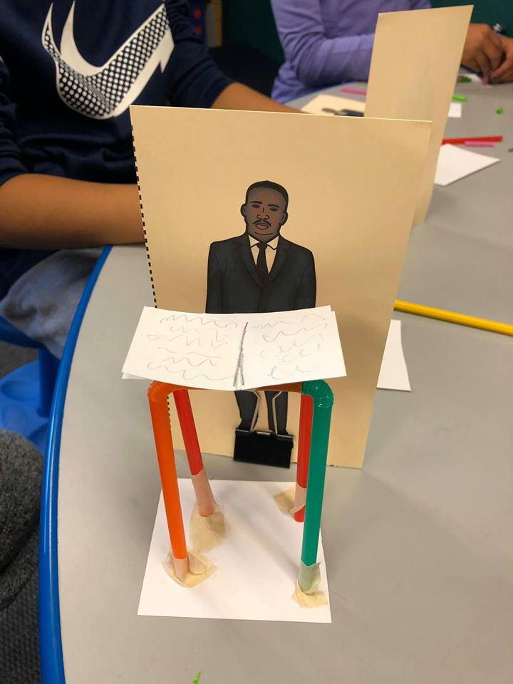 Dr. Martin Luther King STEAM Day Celebration Craft