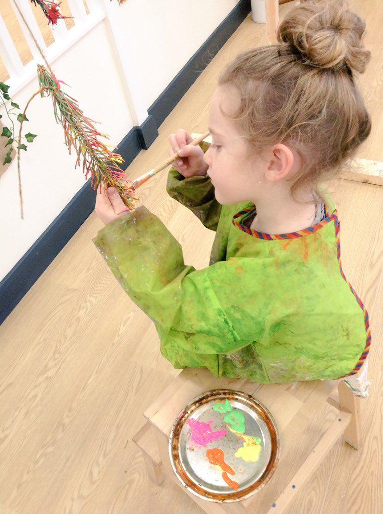 Pine Needle Painting Activity