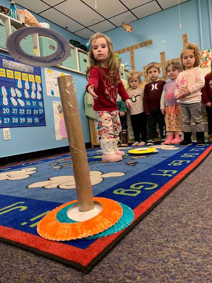 Paper Plate Ring Toss Game for Preschoolers