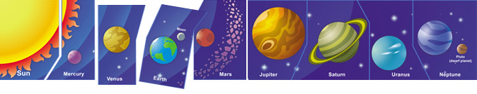 Planets of the Solar System puzzles