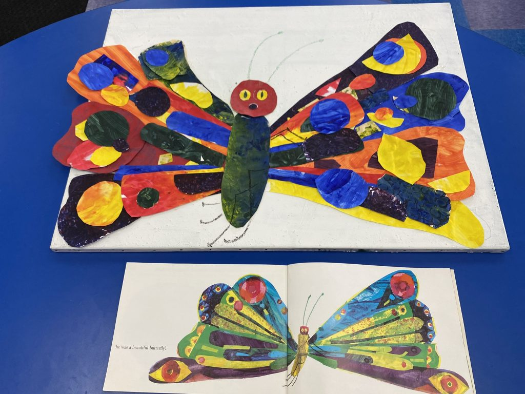 Erice Carle-Themed Butterfly Painting Classroom Collaboration Craft
