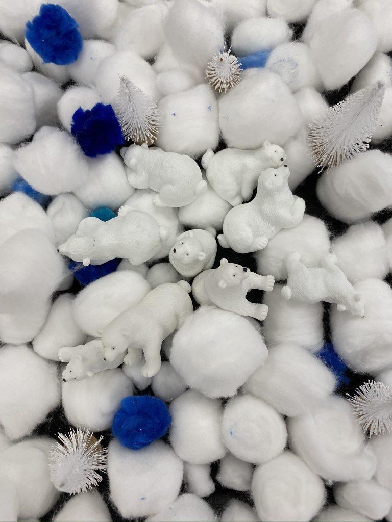 Winter Wonderland and Snow Themed Sensory Bins Plus Winter-Focused Art Activities
