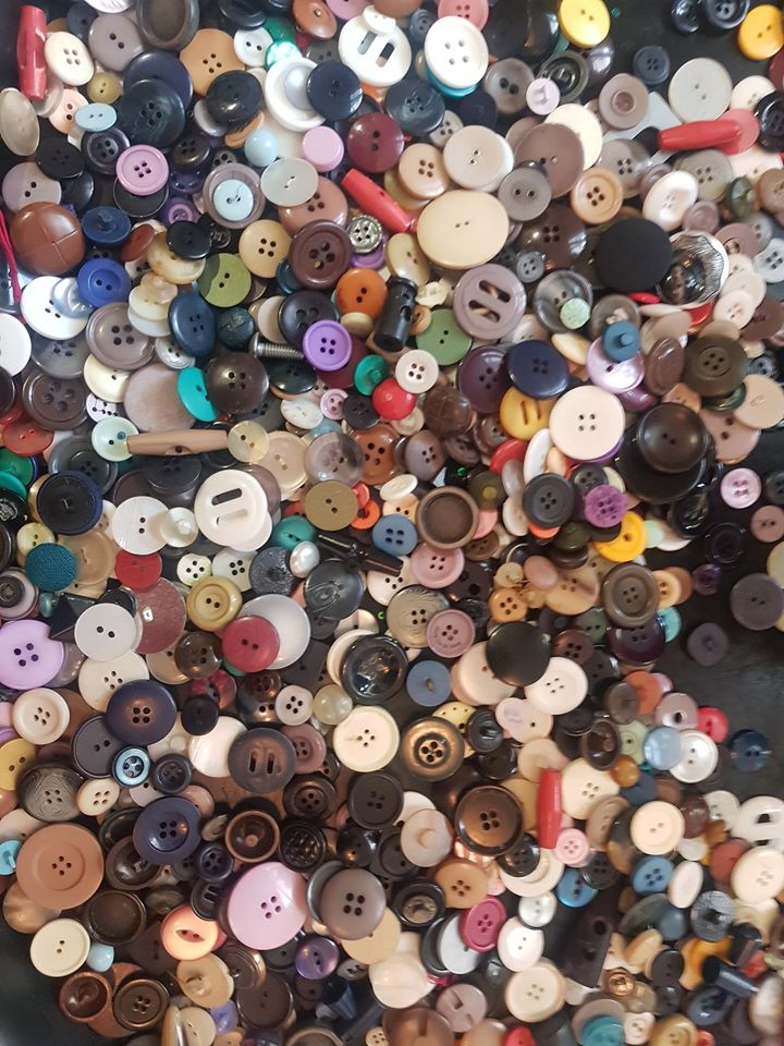 Loose Parts Play Activity With Buttons
