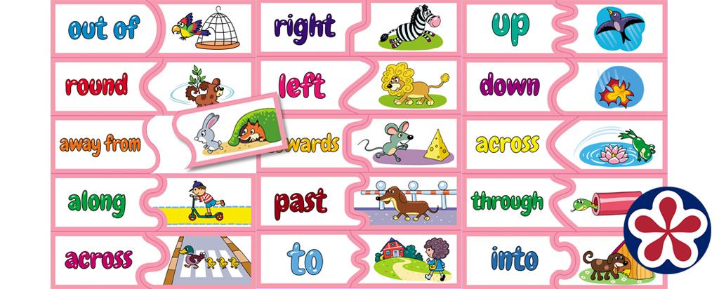 Prepositions of Movement Words Matching Activity
