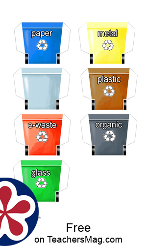 Printable Activity for Practicing Sorting Recycling
