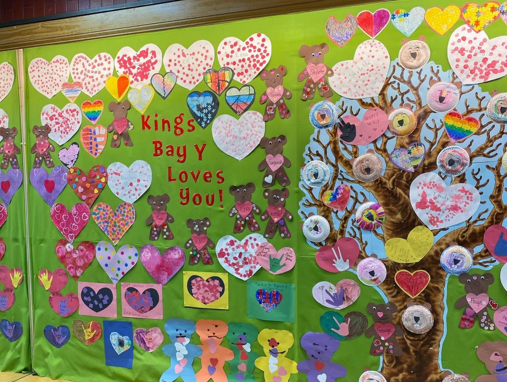 Big Community Center Valentine's Day Display Project