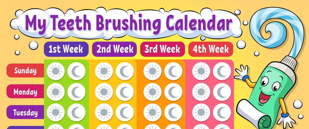 Free Printable My Teeth Brushing Calendar