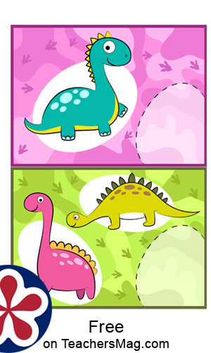 Printable Dinosaur Counting Activity for Preschool Students