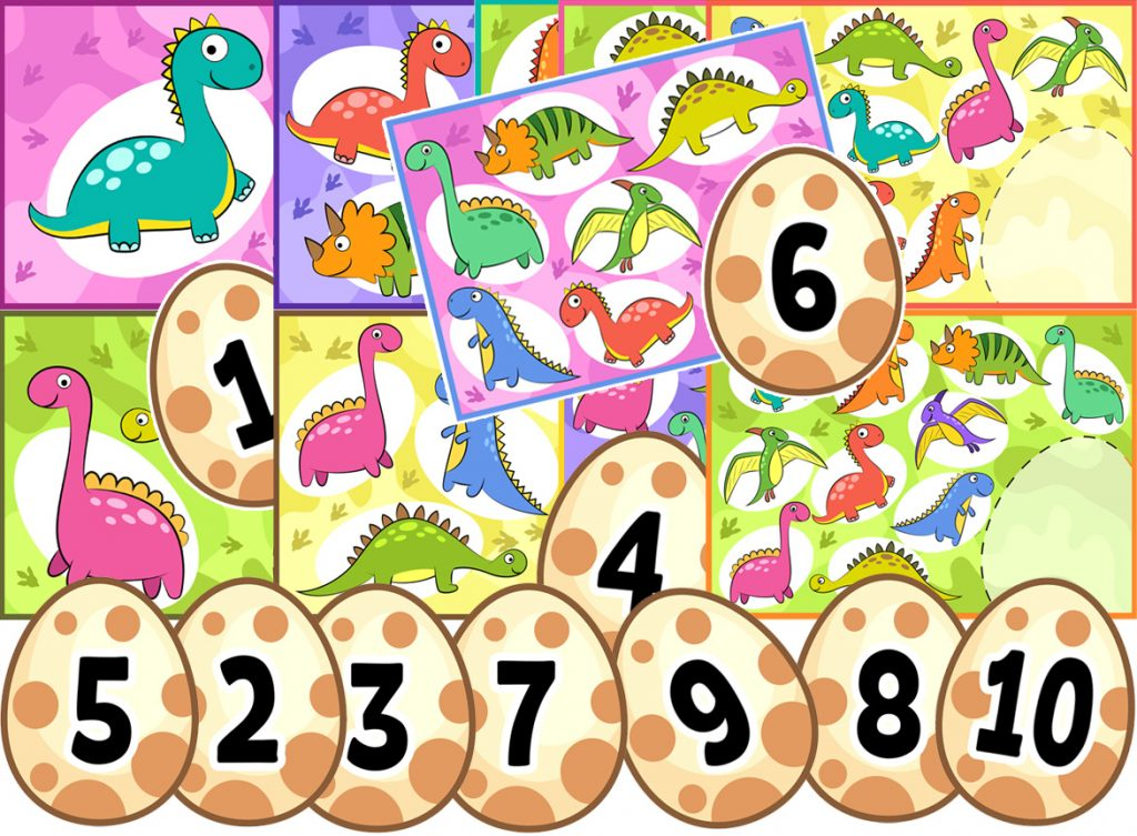 Dinosaur Counting Activity