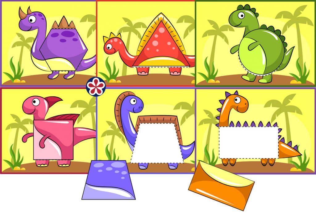 Dino Shape Sorting Activity for Preschool Students