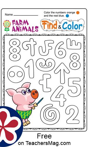 Free Printable Farm Animal Worksheets for Preschoolers