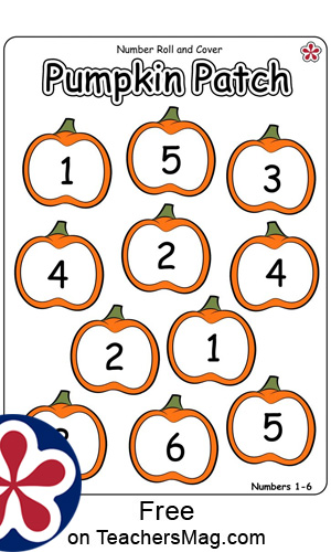 Pumpkin Patch Roll and Cover Game