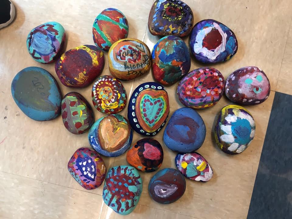 Friendship Rocks Craft for Valentine's Day