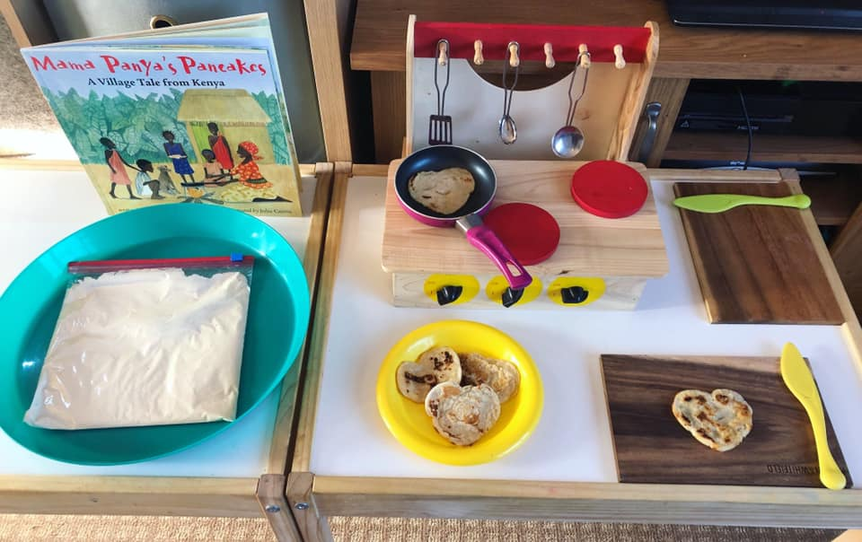 Pancake Creation Role Play Station for Preschool Students