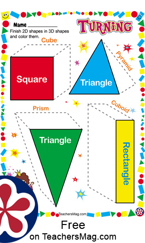 3D Shape Worksheets for Use in Preschool