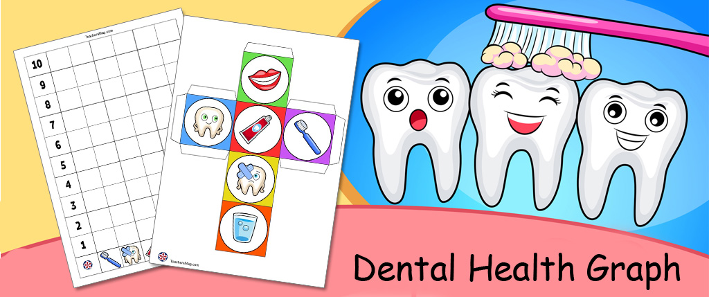 Dental Health Graph Activity With a Rolling Cube