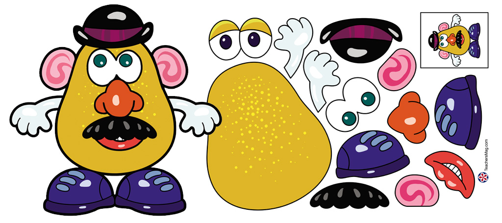 Mr. Potato Head Template for Discussing the Five Senses