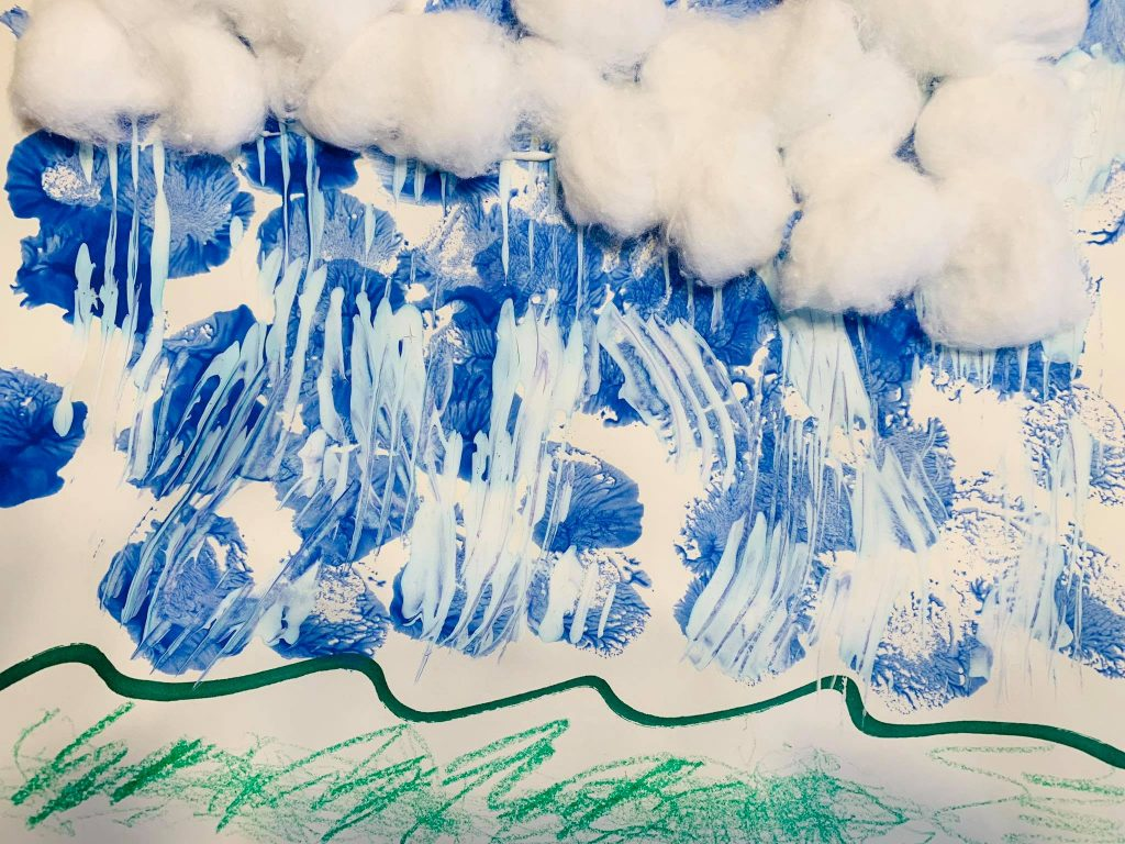Stormy Clouds Painting Activity